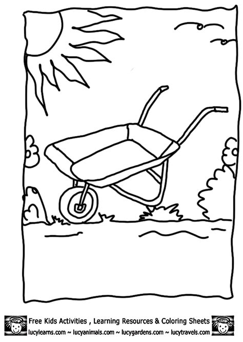 coloring page garden tools coloring pages of garden tools kids coloring page gallery