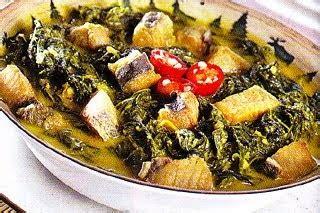 Cuk Bi Olahan Daun Singkong ikan jambal masak daun singkong