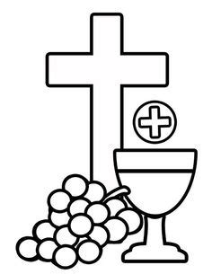 first communion templates clipart best