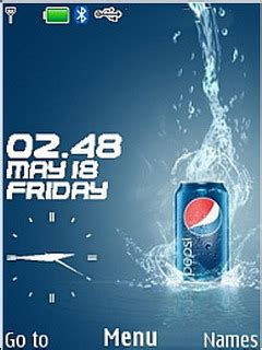 nokia 5130 pepsi themes download pepsi clock nokia theme mobile toones