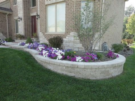 retaining wall flower bed ideas