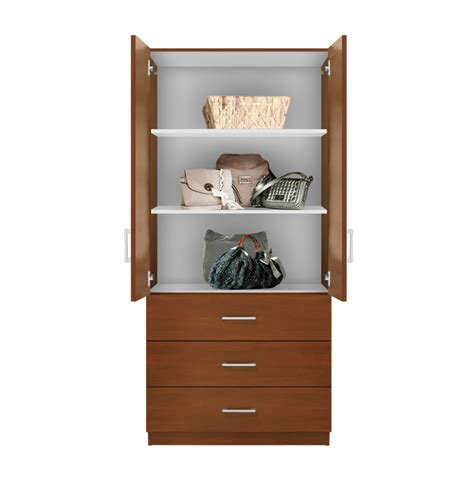 armoires with shelves alta 3 drawer armoire with width shelves contempo space