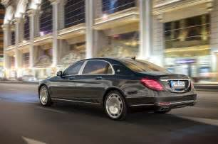 2016 mercedes maybach s600 rear three quarter in motion