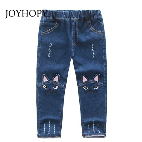 pattern of jeans cute cartoon pattern kids jeans winter autumn lovely cat