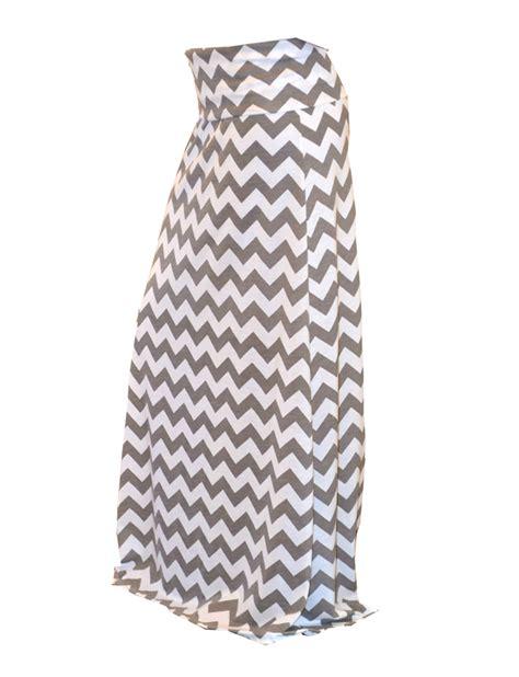 grey chevron maxi skirt in cotton jersey orinoco