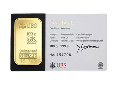 the bullion desk live gold 100 gram ubs gold bullion bar 999 9 fine for sale the