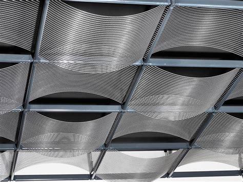 controsoffitti in tessuto pannelli per controsoffitto rete e tela metallica ondula
