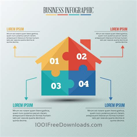 house chart template free vectors infographic template with puzzle style house