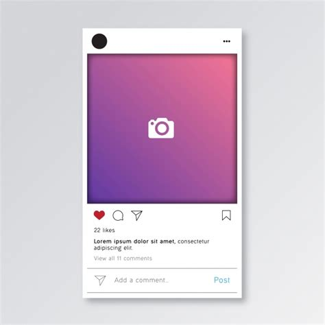 Instagram Card Template by Instagram Post Template Vector Premium