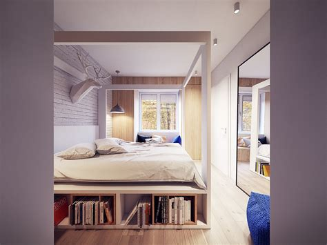 under bed storage ideas a 60s inspired apartment with a creative layout and upbeat vibe
