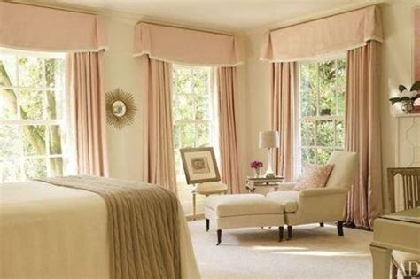 yellow and beige bedroom pink drapery and yellow beige carpet coverlet chair and