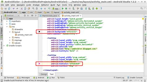 android er android studio color chooser  edit color