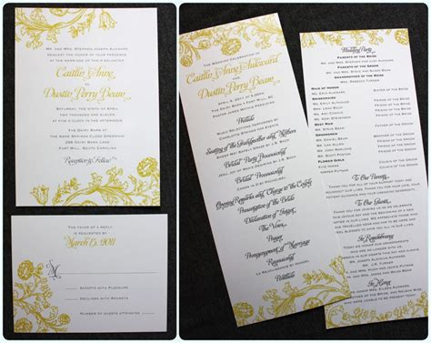 wedding invitation design yellow yellow gray vintage floral print wedding invitations