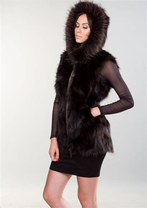 with fur vest fox fur vest with 100 real fur coats and accessories