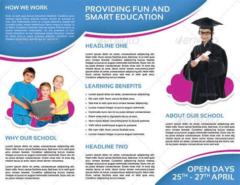 High School Brochure Template by High School Brochure Exles Brickhost 562e1385bc37