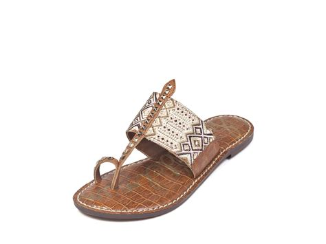 sam edelman shoes sam edelman flat sandals gibson tribal toe ring in gold