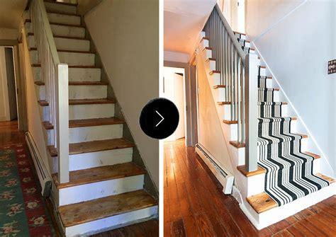 Staircase Makeover Ideas Our Diy Stair Makeover Paint Runner Design Sponge