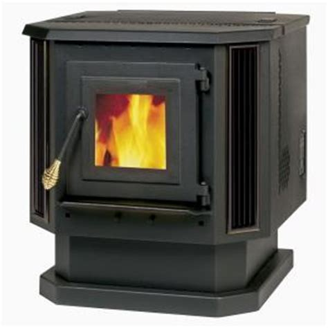 englander 2 200 square pellet stove with black