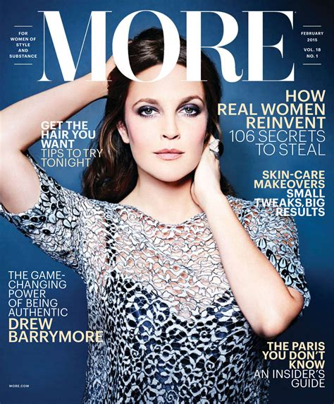 February It Drew Barrymore by Drew Barrymore In More Magazine February 2015 Issue
