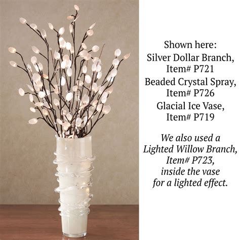 Vase For Lighted Branches by Silver Dollar Lighted Branches