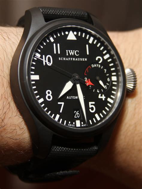 Iwc Top Gun Chrono On Semua Black List iwc big pilot top gun review ablogtowatch