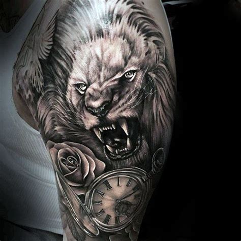 rose and lion tattoo 105 best tattoos for the king tailored