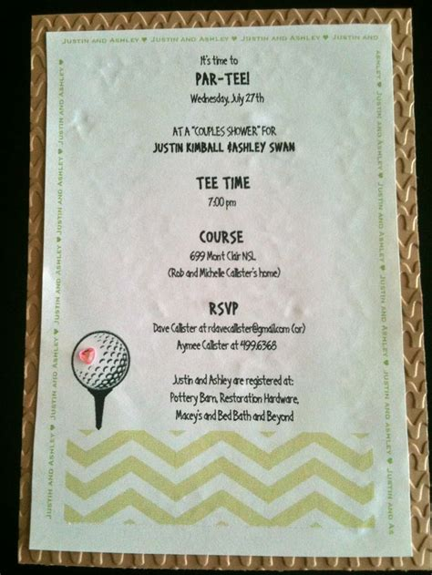 golf themed wedding invitations golf wedding invitations search my golf wedding