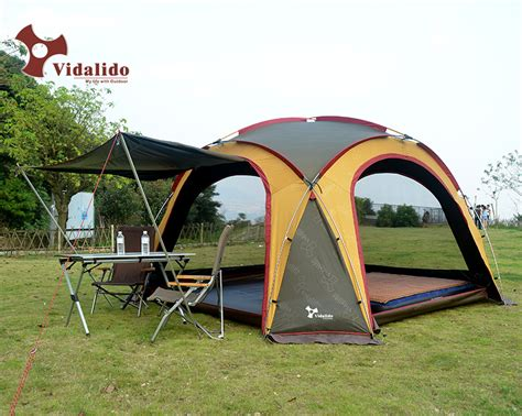 Canopy With Awning by Vidalido Lightweight Aluminum Pole Outdoor Cing