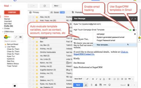 sugarcrm email templates introduction yathit inboxcrm sugarcrm for gmail