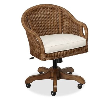 Wingate Rattan Swivel Desk Chair Pottery Barn Pottery Barn Desk Chair