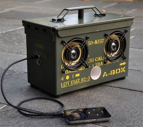 diy projects electronics how to make a diy surplus ammo can speaker box man made