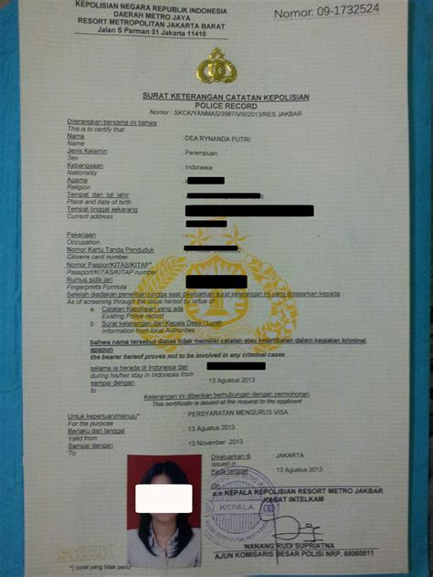 syarat membuat skck luar negeri prosedur pembuatan skck surat keterangan catatan