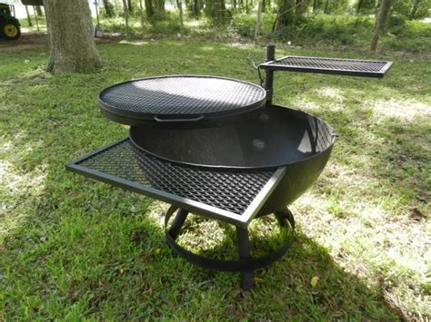 steel fire pit cooker grill offer texas 750