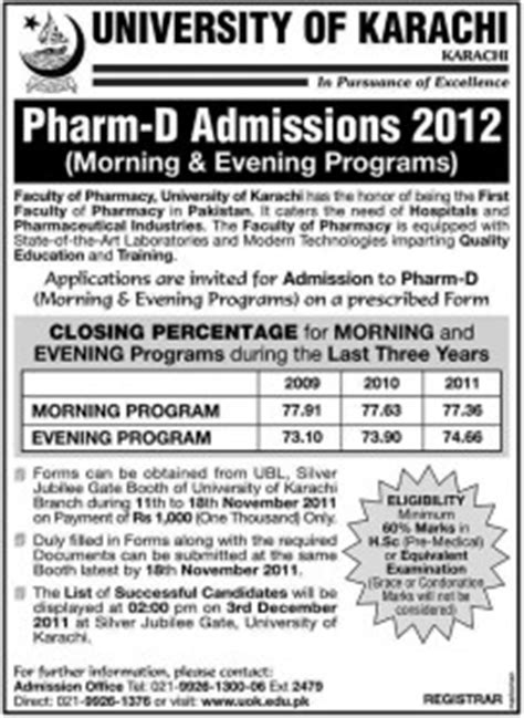 Mba In Healthcare Management In Karachi by Of Karachi Announces B E Bs Hons Bba Bpa