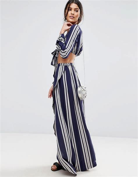 asos stripe top maxi skirt two shop
