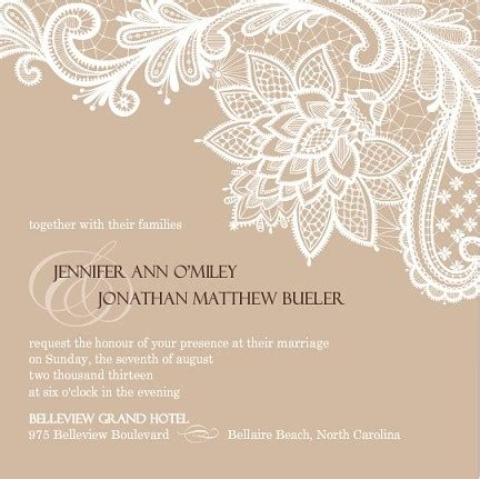 Wedding Invitations Vintage Lace by Vintage Wedding Invitations By Wedding Paperie