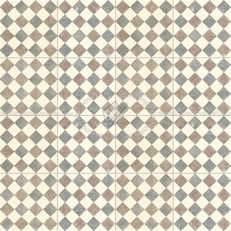 Checkerboard cement floor tile texture seamless 13428