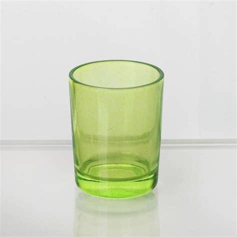 green votive holders candle tea light votive holders apple green 12pcs