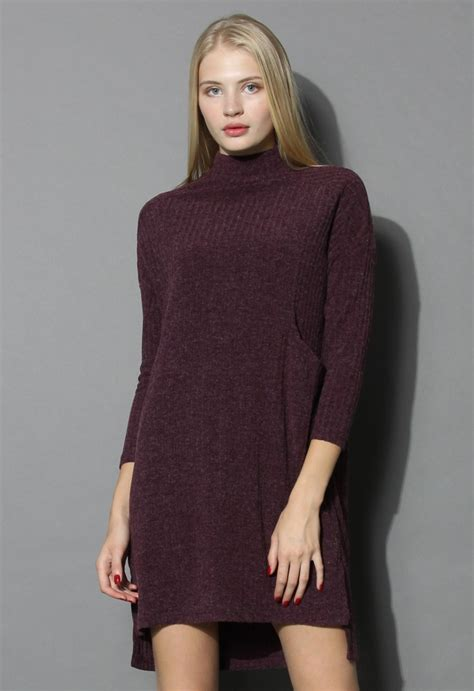 burgundy knit dress basic ribbed knit dress in burgundy retro and