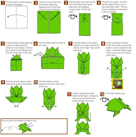 free coloring pages how to make an origami jumping frog