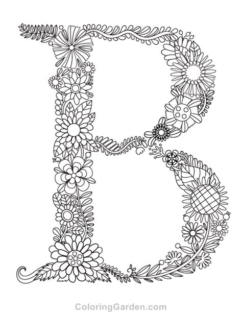 coloring page for letter b the small and capital b coloring pages with letter b