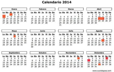 Calendario 365 Es 2014 Calendario De Fiestas Nacionales Para 2014 Clubrural