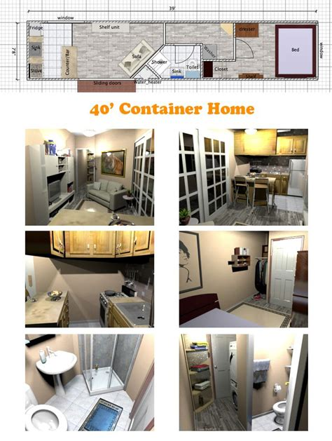 space efficient floor plans a space efficient floor plan for a container home