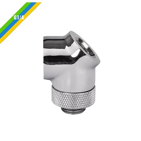Thermaltake Pacific G14 Y Adapter Chrome thermaltake pacific g1 4 45 degree adapter fitting chrome cl w051 cu00sl a from wcuk