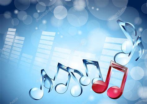 imagenes musicales 3d 3d notas musicales sobre fondo azul brillante vector de