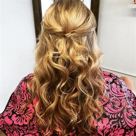 hairstyles curly hair tied up 40 easy and chic half ponytails for straight wavy and