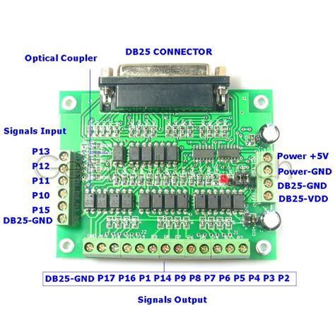 6 axis cnc db25 breakout board mach2 mach3 kcam4 optical