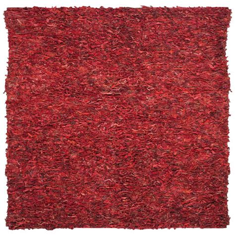 6 foot square rug safavieh leather shag 6 ft x 6 ft square area rug lsg511d 6sq the home depot