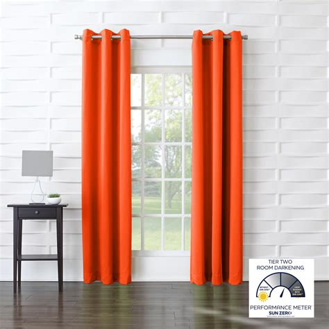 curtains with orange furniture grommet curtains with orange curtain and black
