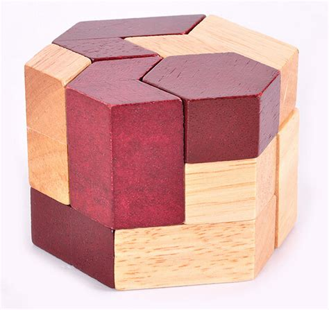 3d Wooden Shape geometric shape iq wooden brain teaser puzzle for